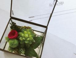 アンティーク調 アンティークフレーム アンティークボックス 多肉植物 グリーン ピンポンマム 贈り物 ギフト 男性向け バ