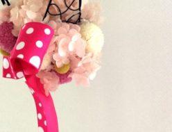 プリザーブドフラワー アジサイ 子供部屋 インテリア 出産祝い ベイビーシャワー まんまるツルのハンギングボール