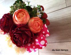 オーダー商品 イチゴ アーティフィシャルフラワー バラ 開院祝い ラナンキュラス まんまる