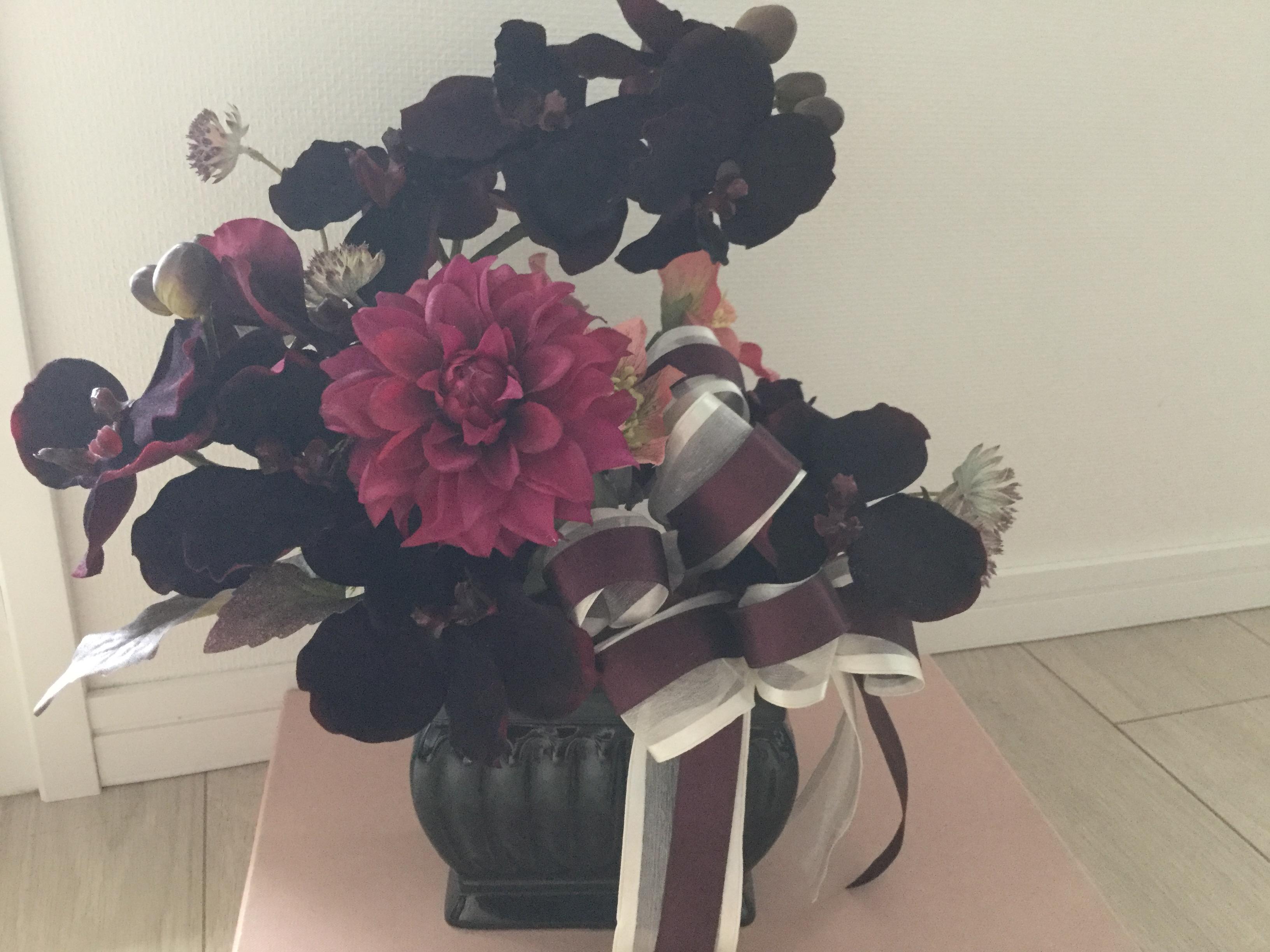 蘭のアレンジメント 胡蝶蘭 アーティフィシャルフラワー