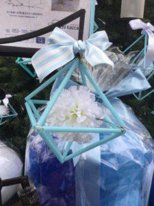 ヒンメリ 星ヶ丘テラス クリスマスツリーブルー 浮かぶ花 幾何学 イルミネーション