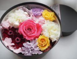 母の日のプレゼント,ボックスフラワー,母の日の贈り物,お母さん,バラ,カーネーション,プレゼント,プリザーブドフラワー