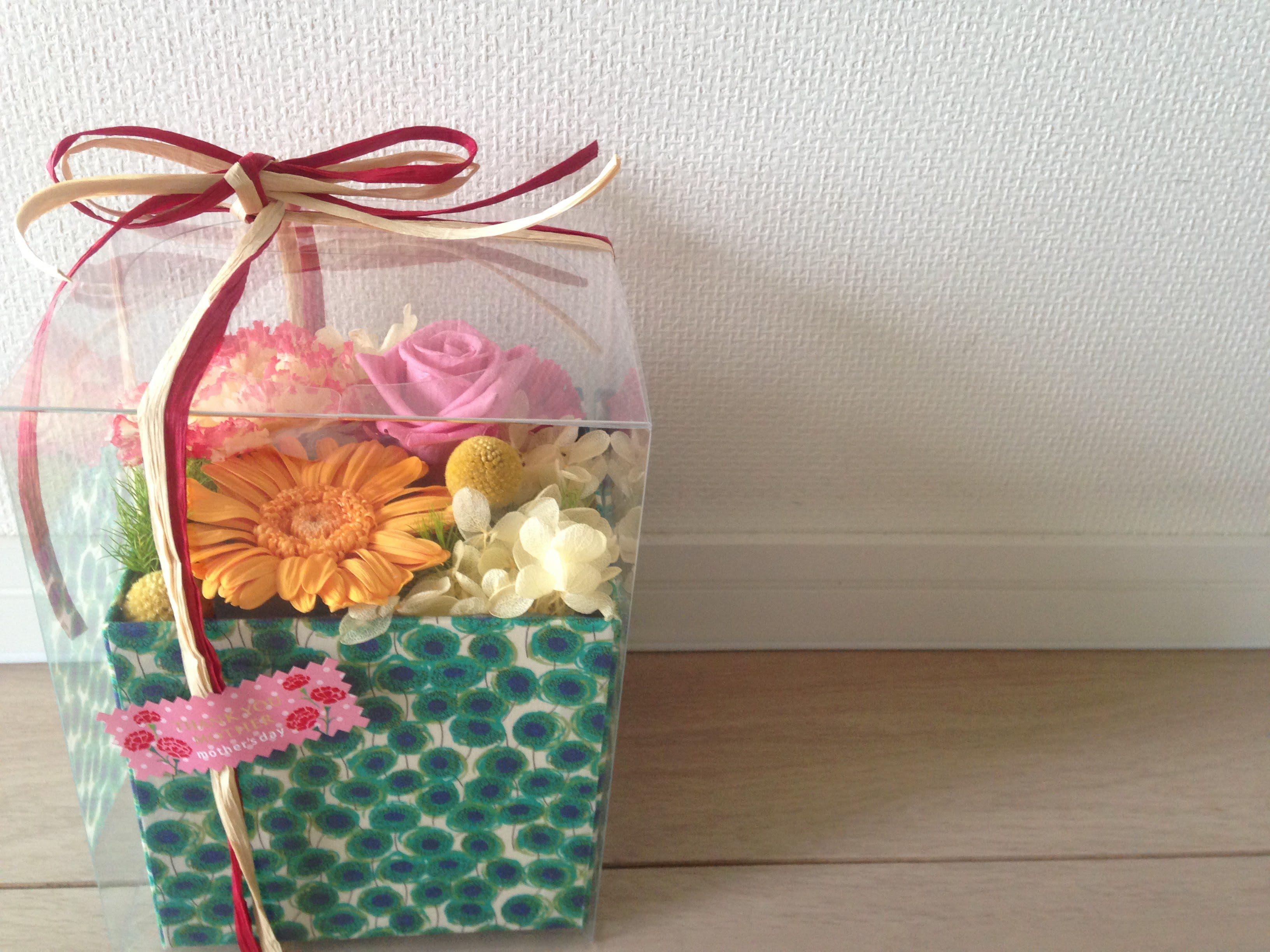 リバティ,リバティ柄,プリザーブドフラワー,母の日,プレゼント,母の日の贈り物