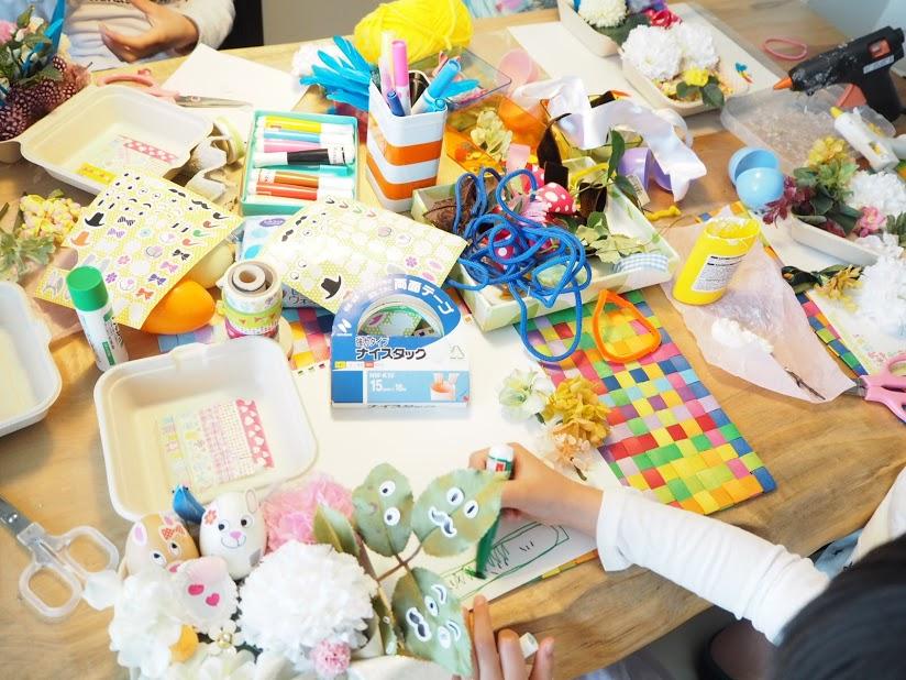 春休み,イースター,イベント,子供の習いごと,新潟市,フラワーアレンジメント