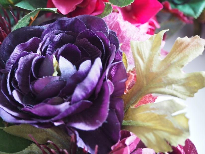 アーティシャルフラワーリース,リース,秋,カーキ,紫,花,グリーン,新潟市中央区