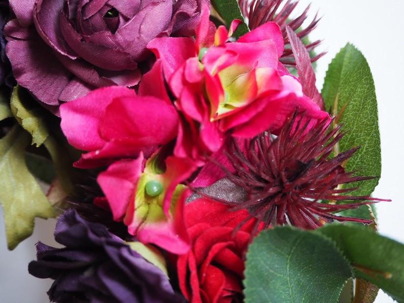 アジサイ,リース,ピンク,赤,紫,アーティフィシャルフラワー,デュボンタン,新潟
