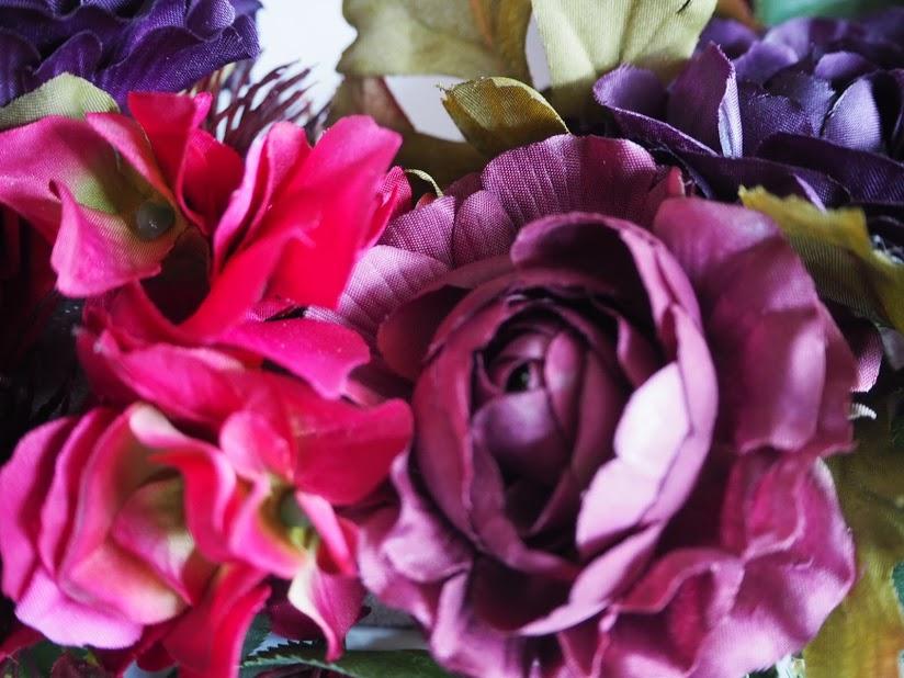 秋色ラナンキュラス,リース.オータムカラー,ラナンキュラス,紫