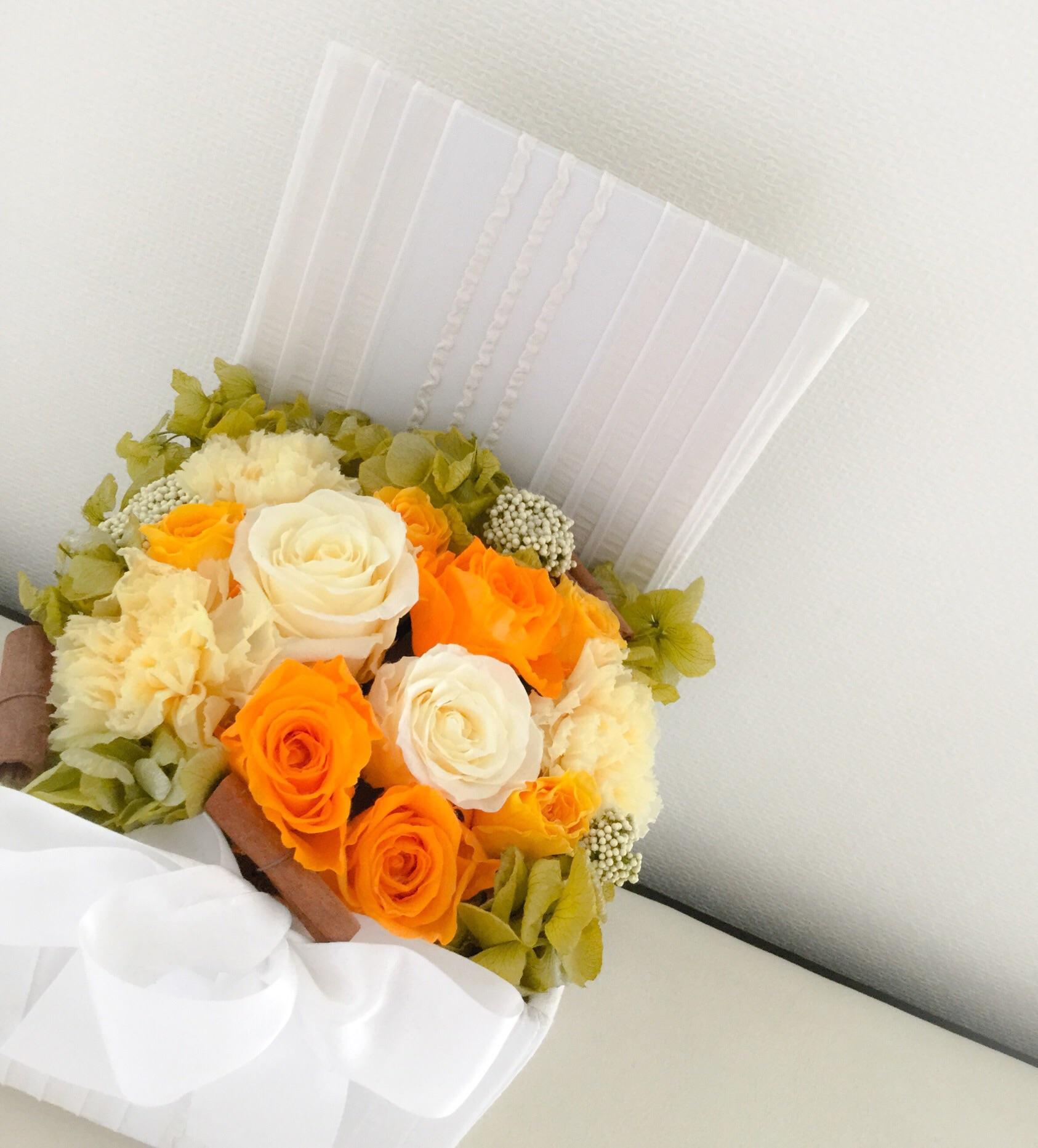 ハロゥイン,プリザーブドフラワー,秋の花,新潟,オレンジ
