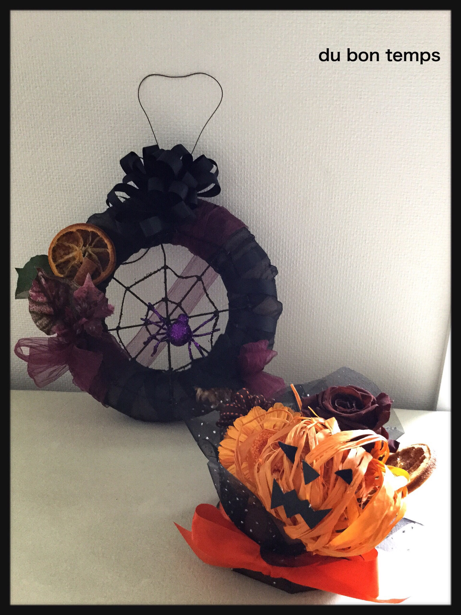 ハロウィン,リース,かぼちゃ,ジャックオランタン,魔女,アーティフィシャルフラワー,花,デュボンタン