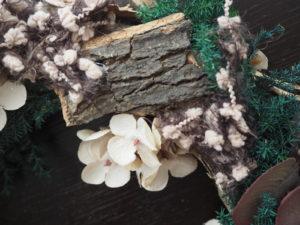 クリスマスリース,ナチュラルリース,木の幹,白樺,デュボンタン