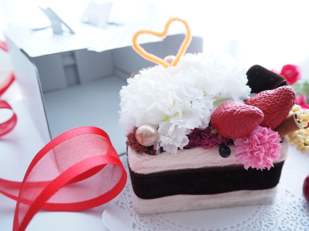 お花のケーキ子供の習い事花を生ける新潟市