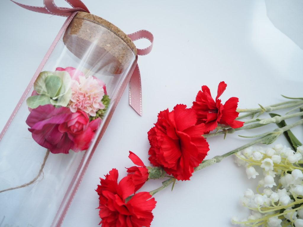 2018年,母の日予約,プレゼント,お花,アーティフィシャルフラワー,ボトルフラワー,ハーバリウム